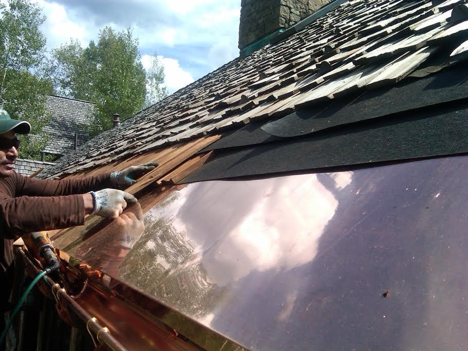 Wood Shake Cedar Shingle Hot Edge Roof Ice Prevention